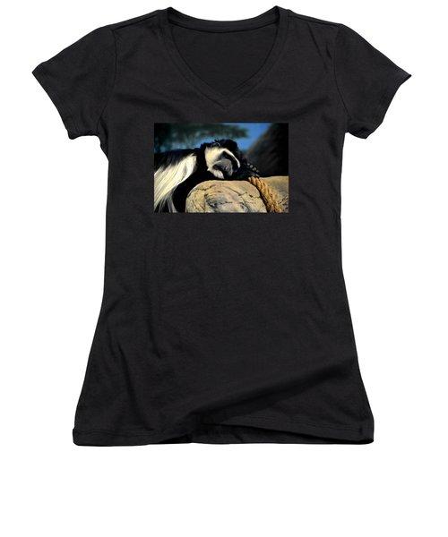 Siesta Women's V-Neck T-Shirt (Junior Cut) by Deena Stoddard