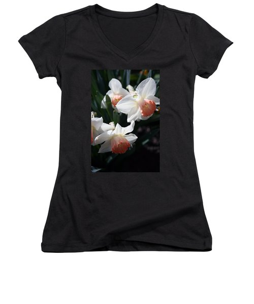 Women's V-Neck T-Shirt (Junior Cut) featuring the photograph Signs Of Spring by Kay Novy