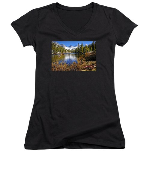 Women's V-Neck T-Shirt (Junior Cut) featuring the photograph Signs Of Spring by Lynn Bauer