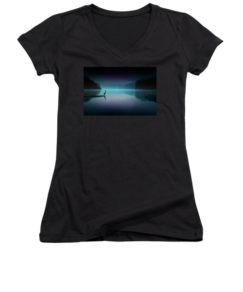 Silent Night Women's V-Neck T-Shirt