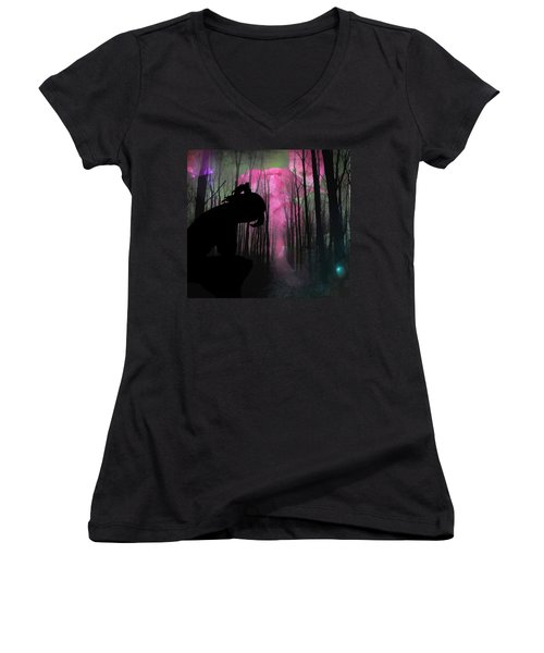 Woman Lost  Women's V-Neck (Athletic Fit)