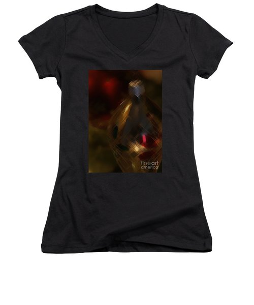 Silver And Gold Women's V-Neck