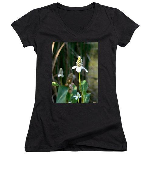 Simple Flower Women's V-Neck T-Shirt (Junior Cut) by Laurel Powell