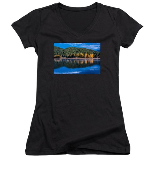 Siskiyou Lake Shoreline Women's V-Neck (Athletic Fit)