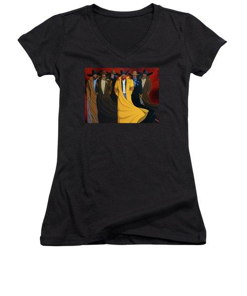 Six Pac Women's V-Neck T-Shirt (Junior Cut) by Lance Headlee