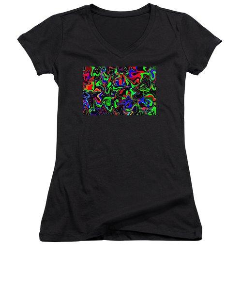 Women's V-Neck T-Shirt (Junior Cut) featuring the photograph Skoob by Mark Blauhoefer