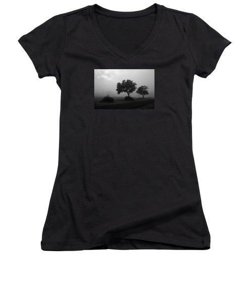 Women's V-Neck T-Shirt (Junior Cut) featuring the photograph Skc 0074 A Family Of Trees by Sunil Kapadia