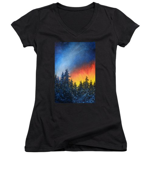 Sky Fire Women's V-Neck T-Shirt
