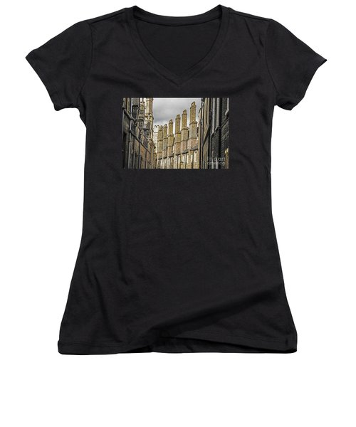 Skyline Of Cambridge Women's V-Neck T-Shirt