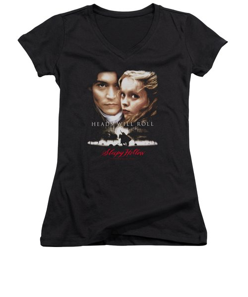 Sleepy Hollow - Heads Will Roll Women's V-Neck (Athletic Fit)