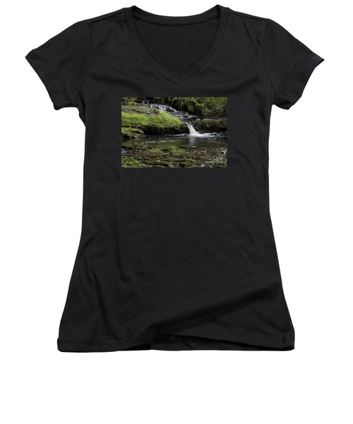 Small Falls On West Beaver Creek Women's V-Neck (Athletic Fit)