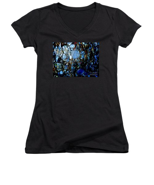 Women's V-Neck T-Shirt (Junior Cut) featuring the photograph Smashed by Cynthia Lagoudakis