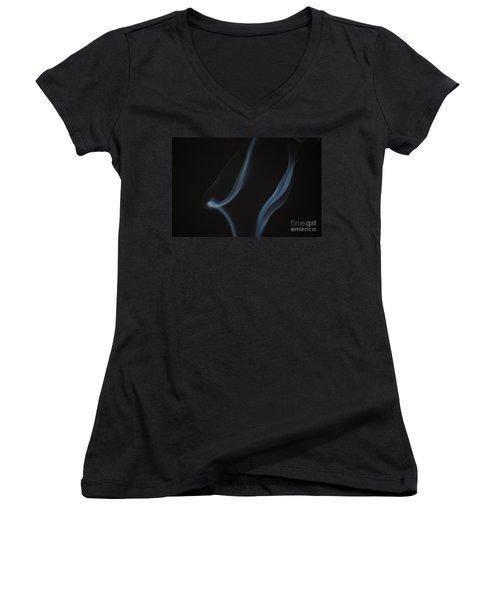 Women's V-Neck T-Shirt (Junior Cut) featuring the photograph Smoke 3 by Patrick Shupert