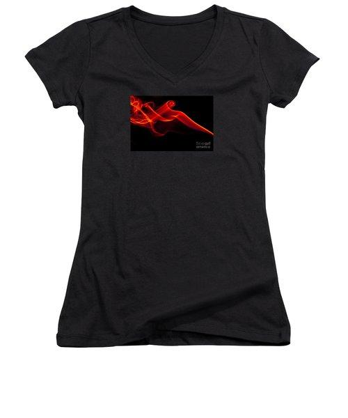 Smokin Women's V-Neck T-Shirt (Junior Cut) by Anthony Sacco