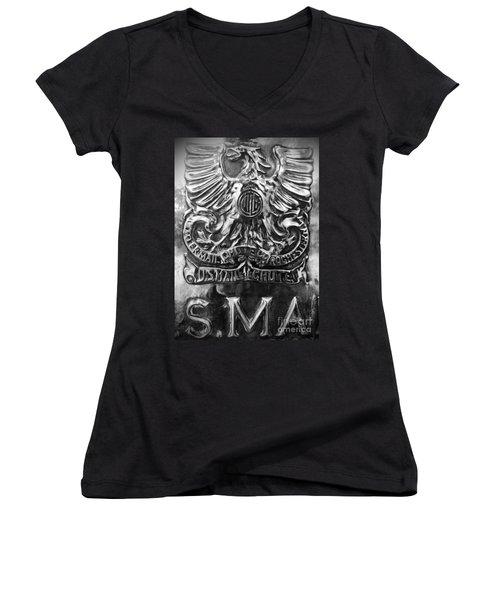 Women's V-Neck T-Shirt (Junior Cut) featuring the photograph Snail Mail by James Aiken