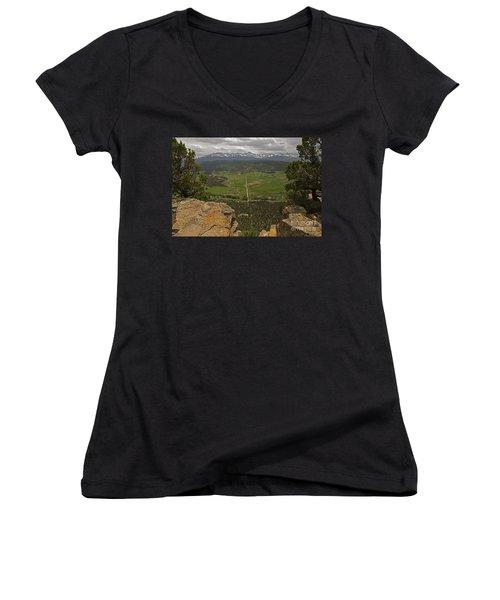 Sneffels Range Women's V-Neck T-Shirt