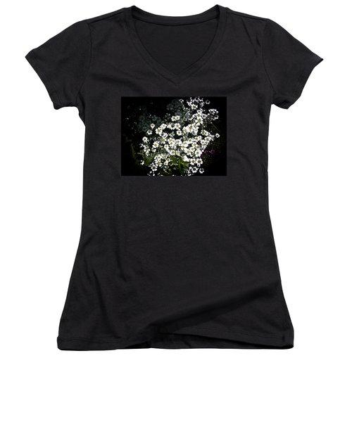 Women's V-Neck T-Shirt (Junior Cut) featuring the photograph Snow In Summer by Joann Copeland-Paul
