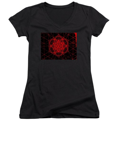 Snowflake Shape Comes From Frequency And Mass Women's V-Neck