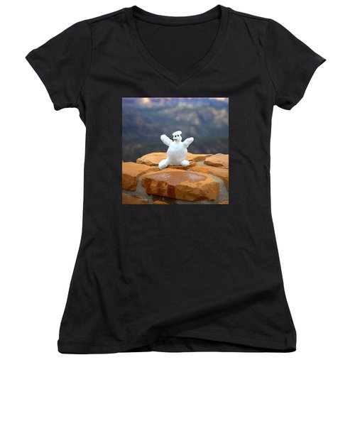 Snowman At Bryce - Square Women's V-Neck