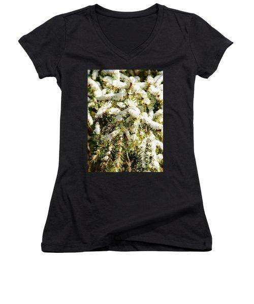 Snowy Pines Women's V-Neck