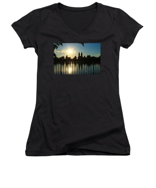 Soft Reflections Women's V-Neck T-Shirt (Junior Cut) by Catie Canetti