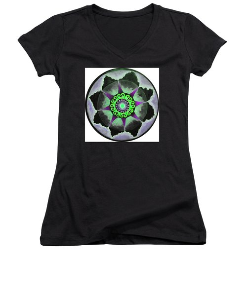 Solar Soul Purple Sky Women's V-Neck T-Shirt (Junior Cut) by Patricia Arroyo