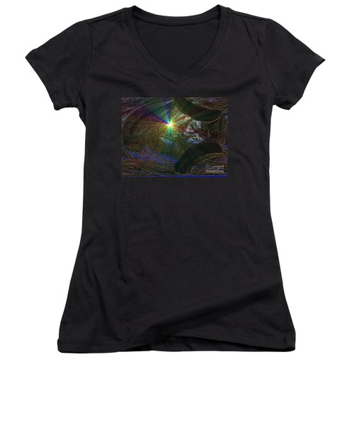 Something Wicked This Way Comes Women's V-Neck T-Shirt (Junior Cut) by Jacqueline Lloyd
