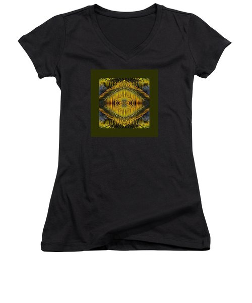 Women's V-Neck T-Shirt (Junior Cut) featuring the photograph Son Of Africa by I'ina Van Lawick