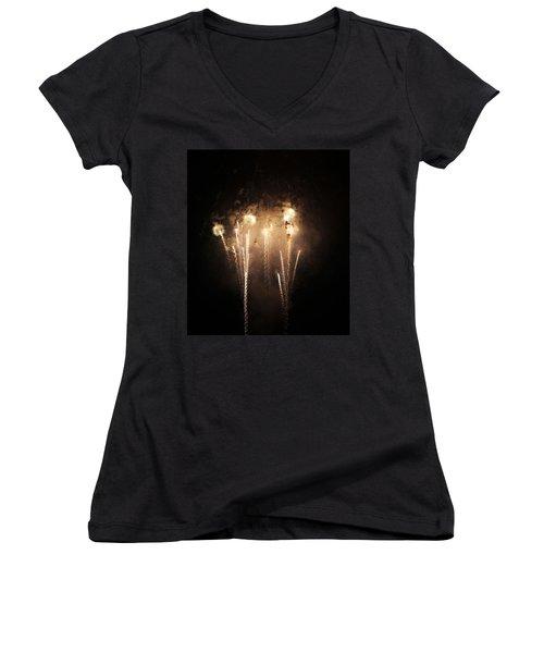 Sonic Women's V-Neck T-Shirt (Junior Cut) by Rowana Ray