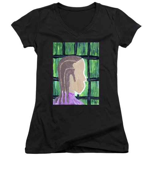 Abstract Man Art Painting  Women's V-Neck