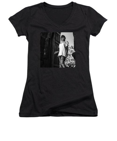 Sophie In India Women's V-Neck T-Shirt