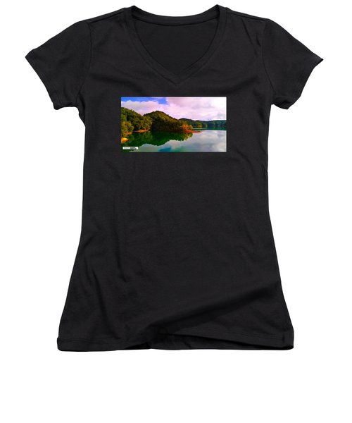North Holston Lake Mountains Women's V-Neck