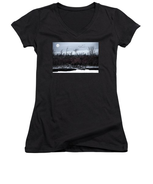 South To The Moon Women's V-Neck