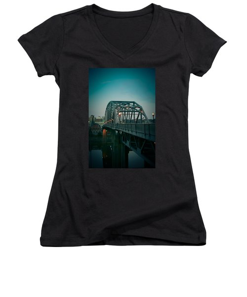 Southside Bridge  Women's V-Neck T-Shirt