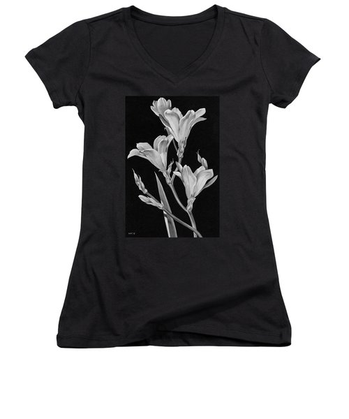 Sparaxis Flowers Women's V-Neck