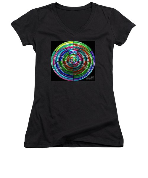 Spinning Top Women's V-Neck T-Shirt