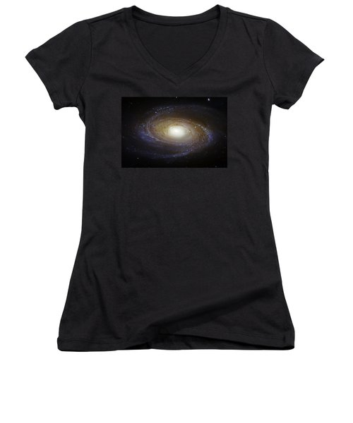 Spiral Galaxy M81 Women's V-Neck T-Shirt
