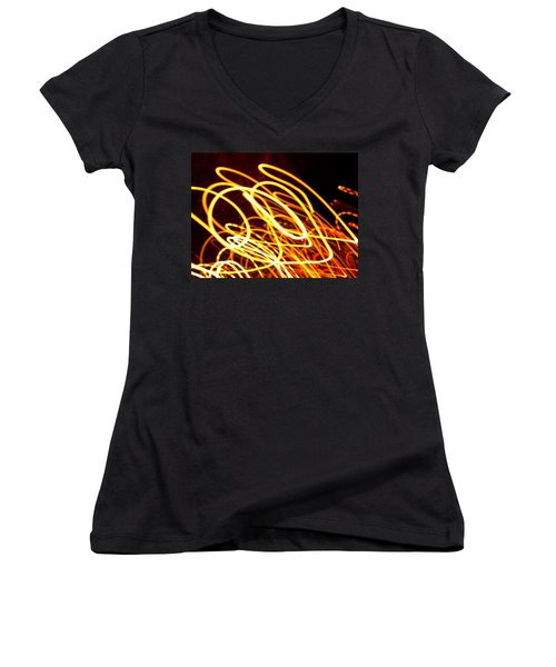 Spiral Light Among Dwellers About The City 2 Women's V-Neck (Athletic Fit)