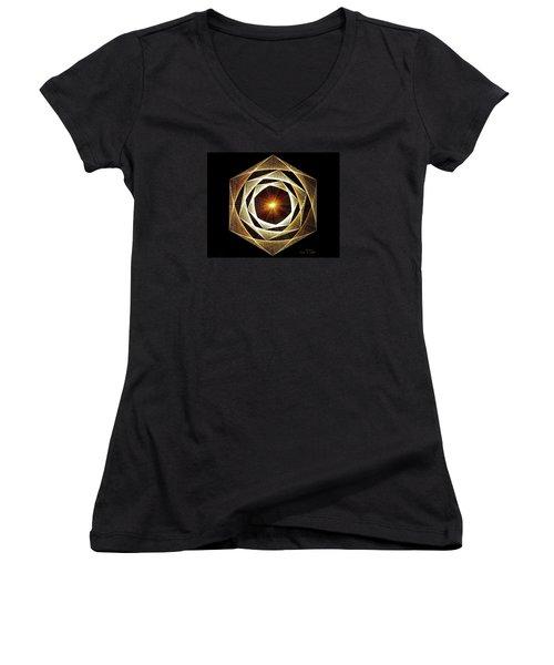 Spiral Scalar Women's V-Neck T-Shirt (Junior Cut) by Jason Padgett