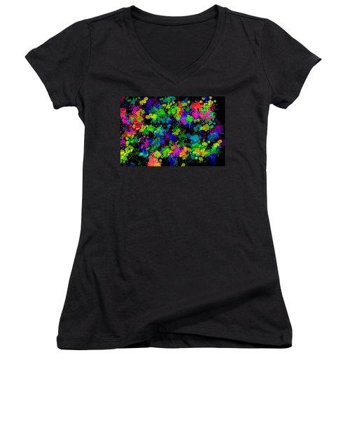 Women's V-Neck T-Shirt (Junior Cut) featuring the photograph Splatter by Mark Blauhoefer