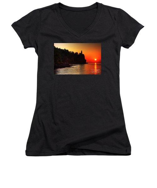 Split Rock Lighthouse - Sunrise Women's V-Neck