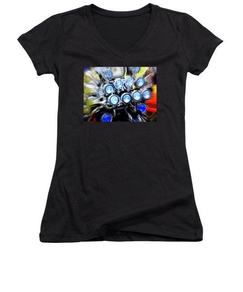 Spotlight Frenzy Women's V-Neck T-Shirt