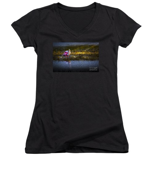 Spotlight Women's V-Neck T-Shirt (Junior Cut)