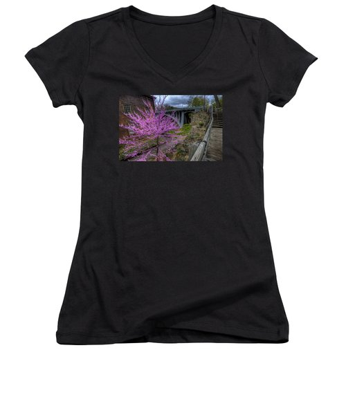 Spring At The Mill Women's V-Neck