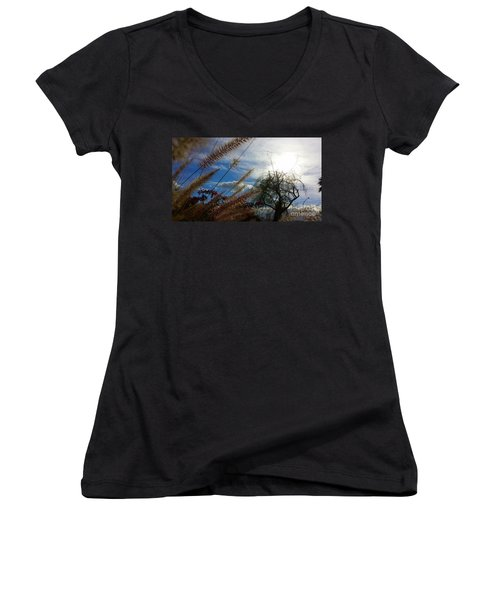 Women's V-Neck T-Shirt (Junior Cut) featuring the photograph Spring In The Air by Chris Tarpening