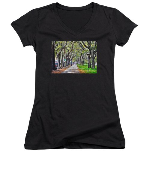 Springtime In Savannah Women's V-Neck T-Shirt