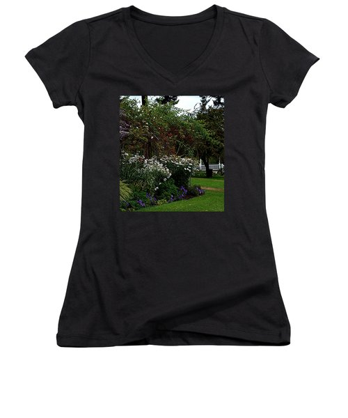Springtime In The Park Women's V-Neck (Athletic Fit)