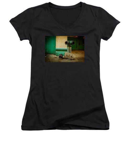 Sprinkler Green Women's V-Neck T-Shirt