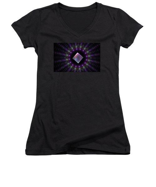 Square Peg Round Hole Women's V-Neck T-Shirt (Junior Cut) by GJ Blackman