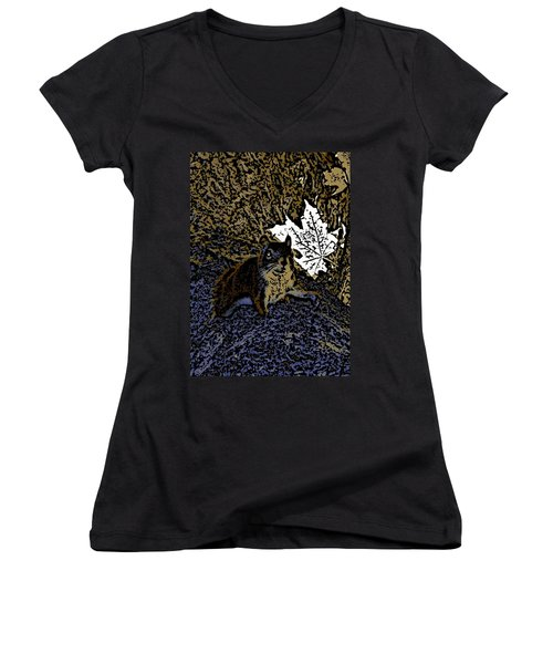 Squirrel Women's V-Neck (Athletic Fit)